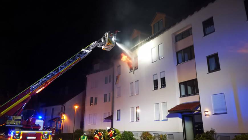 Wohnungsbrand mit einem Todesopfer