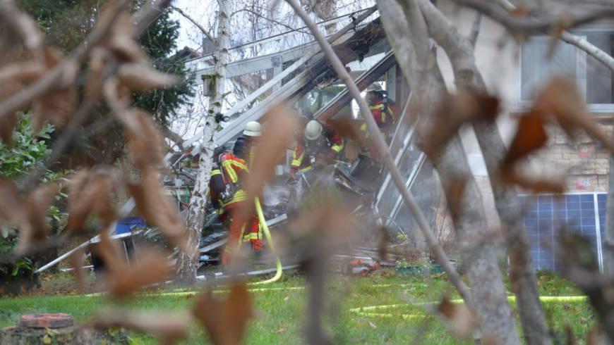 Explosion zerstört Wintergarten