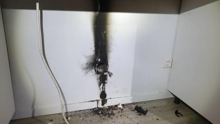 Küchenbrand in Forst geht glimpflich aus