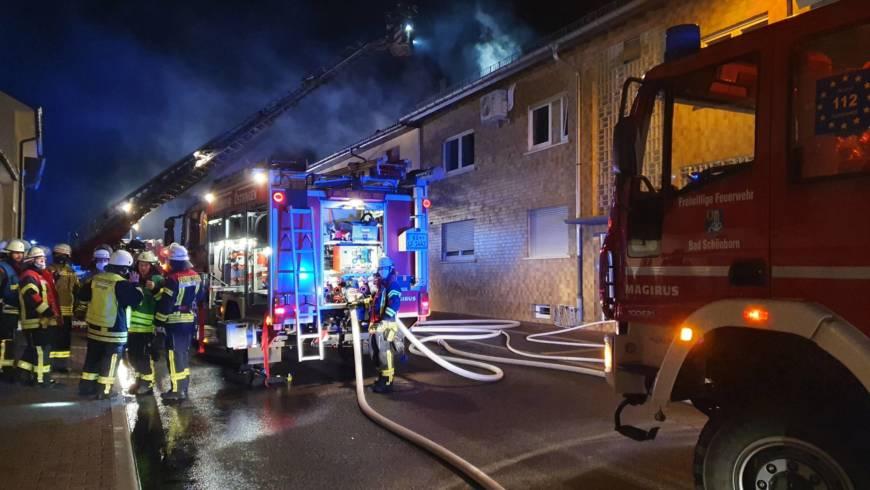 Dachstuhlbrand in der Östringer Hauptstraße