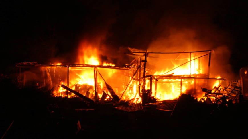 Scheunenbrand in Unteröwisheim