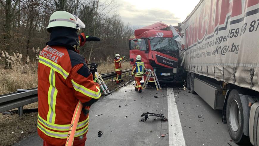 Erneut schwerer LKW-Unfall auf der BAB 5