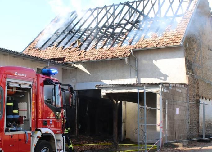 Feuerwehr Gondelsheim stundenlang im Einsatz