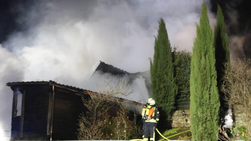 Gemeldeter Scheunenbrand in Gondelsheim