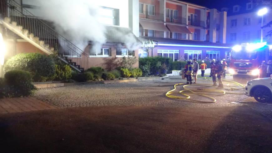 Saunabrand in Ettlinger Hotel